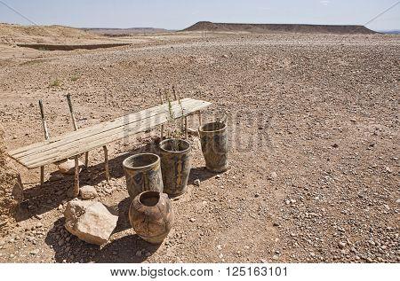Ksar Ait Ben Haddou arid outskirts a fortified city along the former caravan route between the Sahara and Marrakech