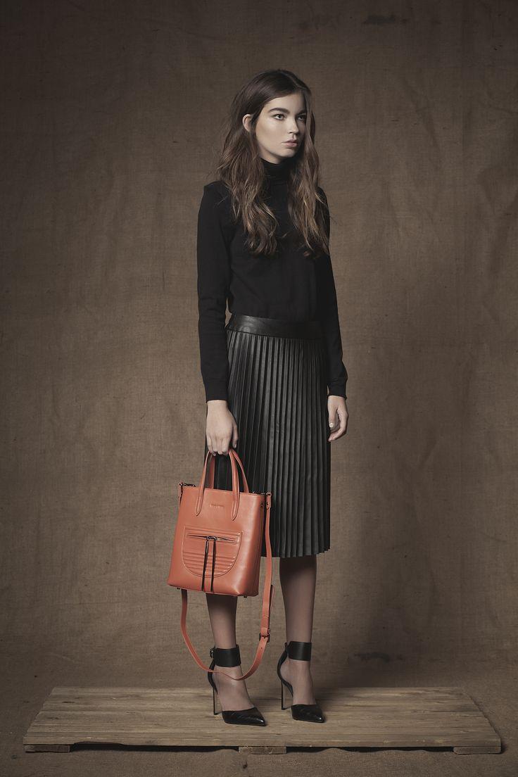 Monaco Mini Shopper in Pumpkin #Mini #Shopper #Handbag #FW15 #Pumpkin #Leather