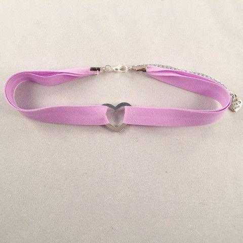 Lilac Heart Choker - Deer Designs