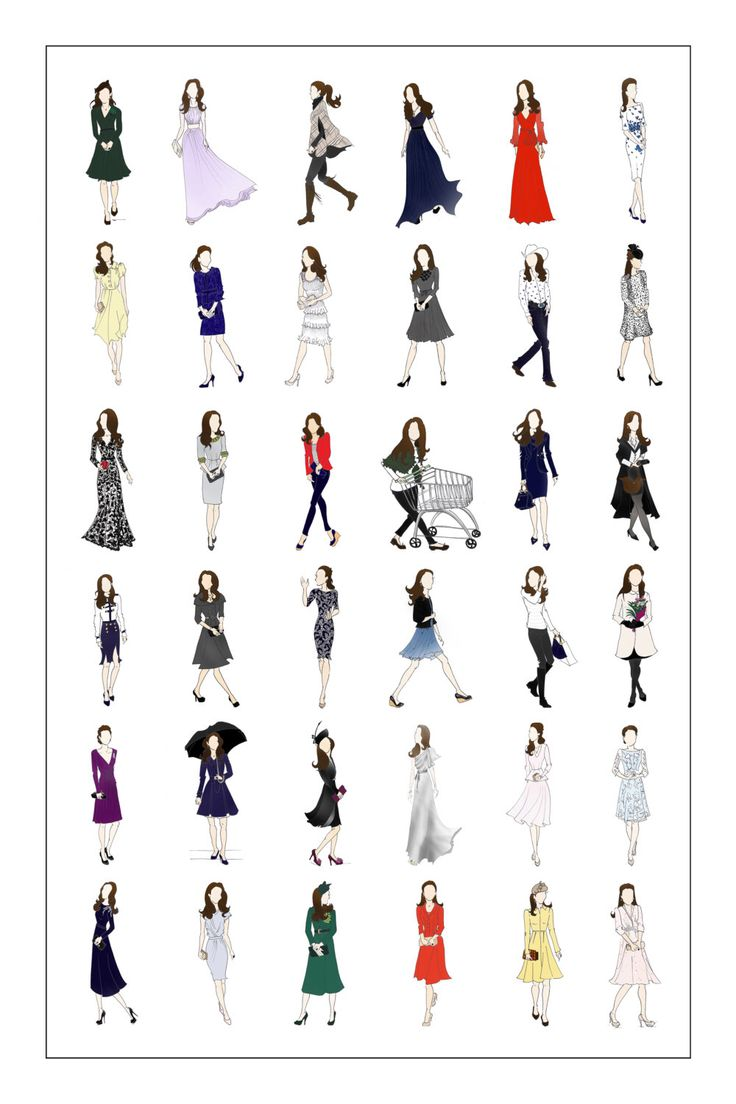 Kate Middleton, Duchess of Cambridge Fashion Poster II 18x24 by RepliKateIt on Etsy (null)