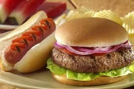 Image result for hamburger and hot dogs