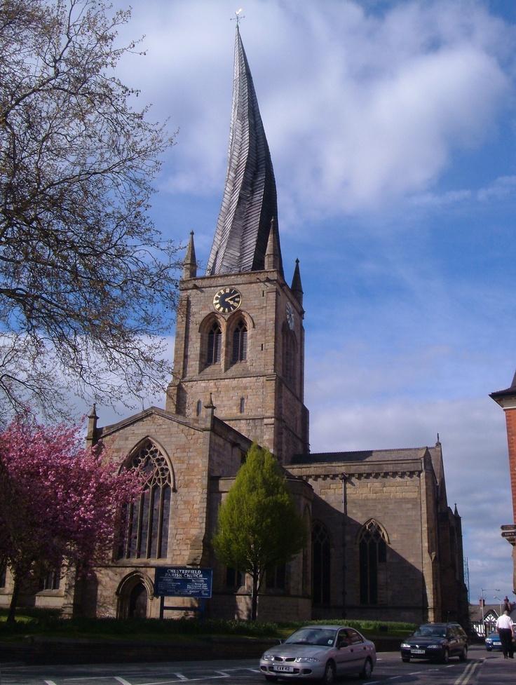 Chesterfields Crooked Spire (Parish Church) - Chesterfield, Derbyshire, UK  http://en.wikipedia.org/wiki/Chesterfield_Parish_Church