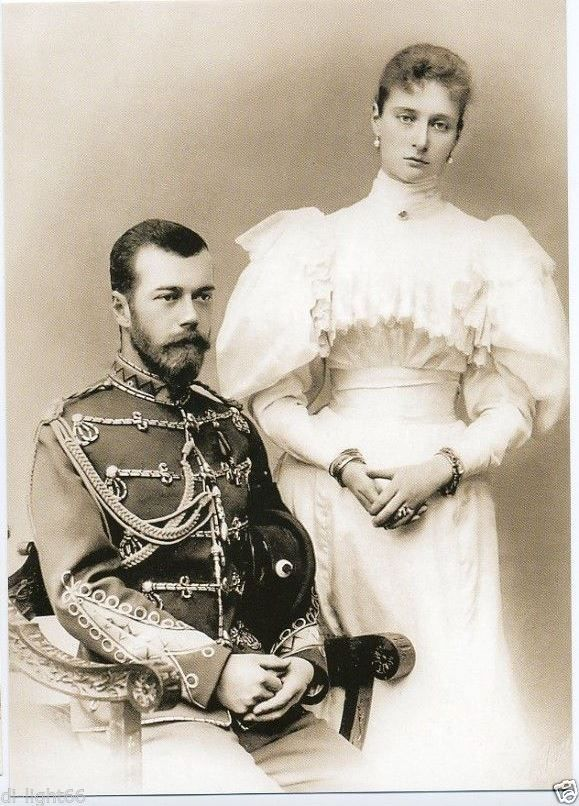 Tsar Nicolas Romanov Tsarina Alexandra in 1896