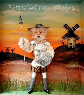 Patricia Cruzat Artesania y Color: El Quijote de la Mancha y Sancho Panza