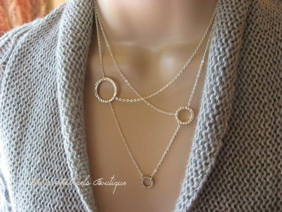 Hey, I found this really awesome Etsy listing at http://www.etsy.com/listing/150045979/mixed-circles-necklace-silver-double