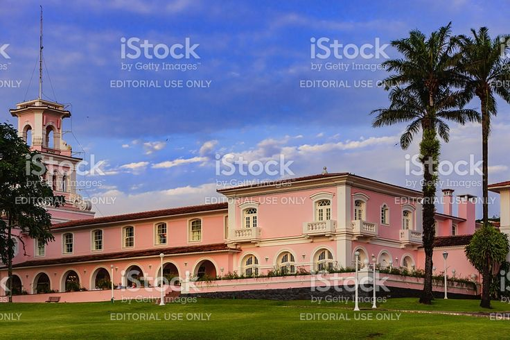 Iguacu, Brazil - Cataratas Hotel at sunset royalty-free stock photo