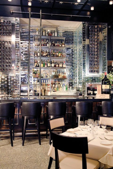 back bar wine wall inspiration for willow restaurant design.