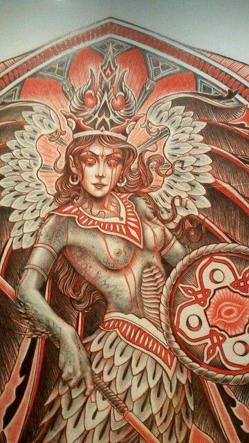 """Projet de tatouage de Lynn Akura / Expo """"Tatoueurs tatoués"""", Musée du Quai Branly, 2014"""