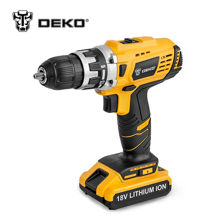 DEKO GCD18DU/2 18V DC Lithium-Ion Battery Cordless Drill //Price: $95.84 & FREE Shipping //     #wood drills  #CARVING CHISEL  #Double Feather   #Board Router   #Drill Chuck Screwdriver   #Drill Bit