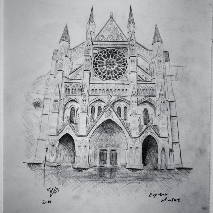 The northern façade of Westminster Abbey London.
