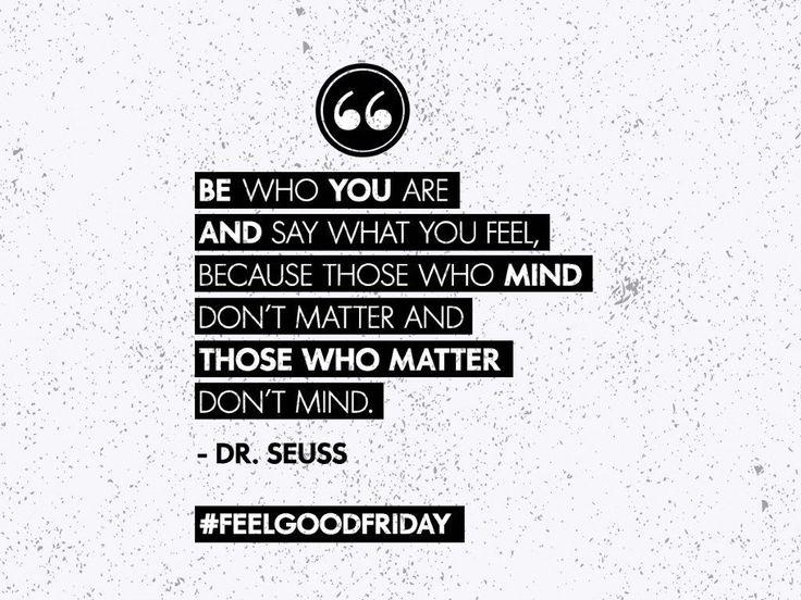 Be yourselfie #feelgoodfriday