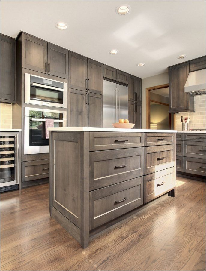 Wood Cabinets Gray Stained White Wash Kitchen Hickory Staining