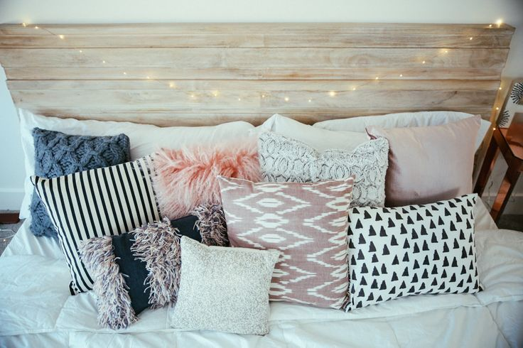 Bedroom decor ideas - eclectic bed pillow design. ☼ριитєяєѕт : @Imapenguin☼ ↠『αмαуα』↞