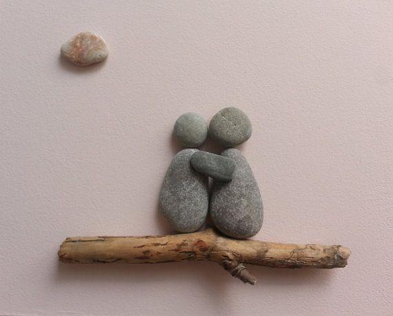 Stone people-Hug by LiseStones on Etsy
