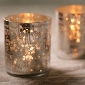 Sparkling Silver T Light Holder: Recycled Glasses, Sparkle Silver, Teas Lights Holders, Mercury Glasses, Trav'Lin Lights, Candles Holders, Products, Tea Lights, Antiques