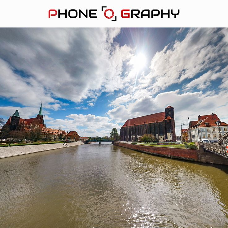 Blue sky with shining sun, cathedrals and Odra River in Wroclaw Find me on Fotolia / Adobe Stock: 109052837 http://adobe.ly/pog-16  #phoneography #fotolia #instant #adobestock #igers #igerswroclaw #igerspoland #wroclaw #wroclove #miastospotkan #odra #river #pond #water #cathedral #katedra #bridge #towers #sky #bluesky #sun #shine #hdr #clouds #cloudyday #nofilter #photoshop #retouch #16