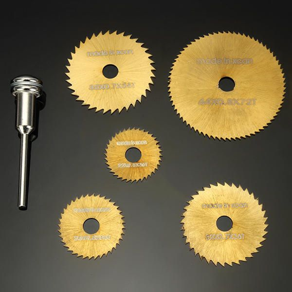 Drillpro SW-B2 6pcs HSS Circular Saw Blades Set Titanium Coated Saw Blades for Dremel Rotary Tools Sale - Banggood Mobile