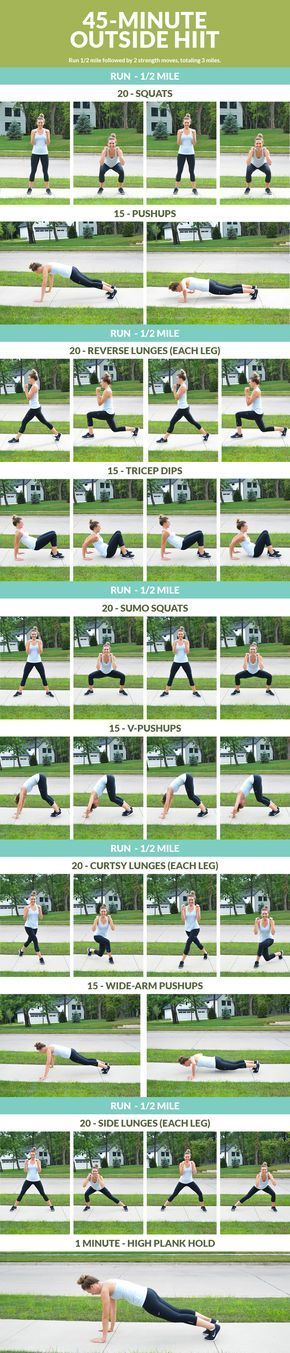 45 Minute Outside HIIT Workout