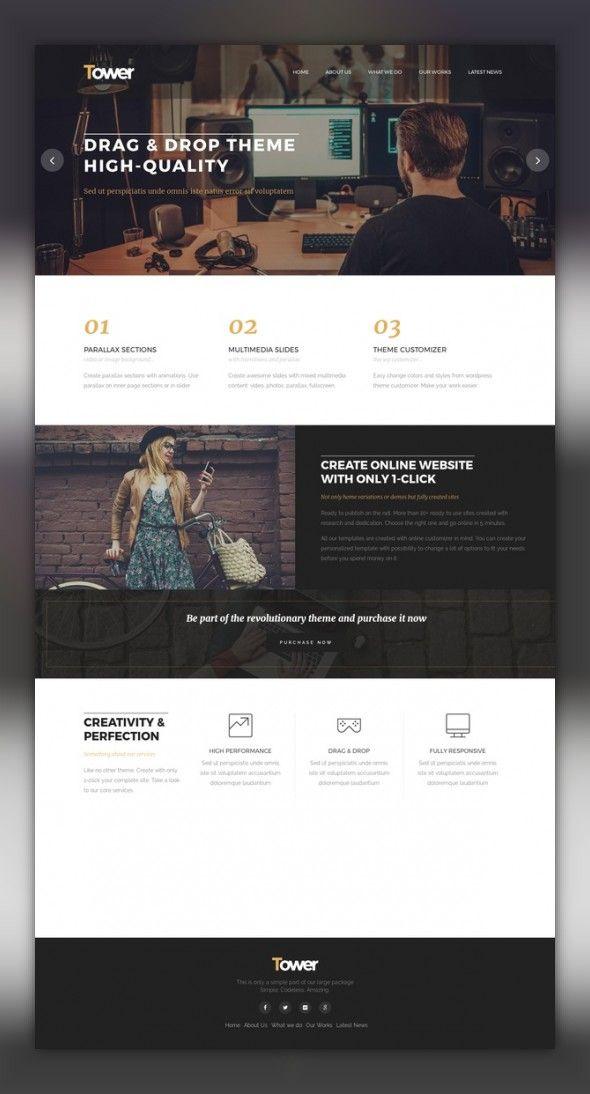 Tower Business Wordpress Wp Themes Wordpress Theme Responsive