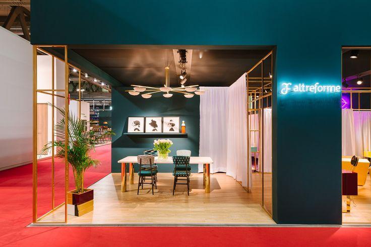 #altreforme stand @isaloni  #lesfemmesdealtreforme #Novecento #HomeSweetHome New collection 2016 #designweek #interior #home #decor #homedecor #furniture with #woweffect #aluminium #art #architecture #design #decoration #interiordesign #fashion #style #home #hotel #milan #italy #madeinitaly #bespoke #luxury #furnishing