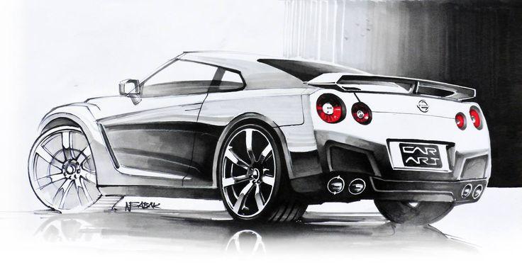 Nissan GT-R Markers 42x29cm 2009y  Nikodem Sabak