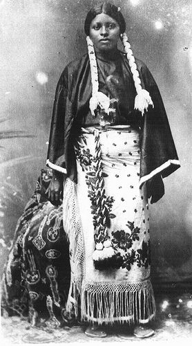 Diana Fletcher was a Black Indian who lived with the Kiowa: