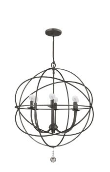 From Crystorama lighting.  love the crystal ball at the bottom.  Great look Great price $$!  and... ta da.... it comes now in a lacquered white.: Lights, Dining Room, Lighting, Chandeliers, Living Room, English Bronze, Crystorama