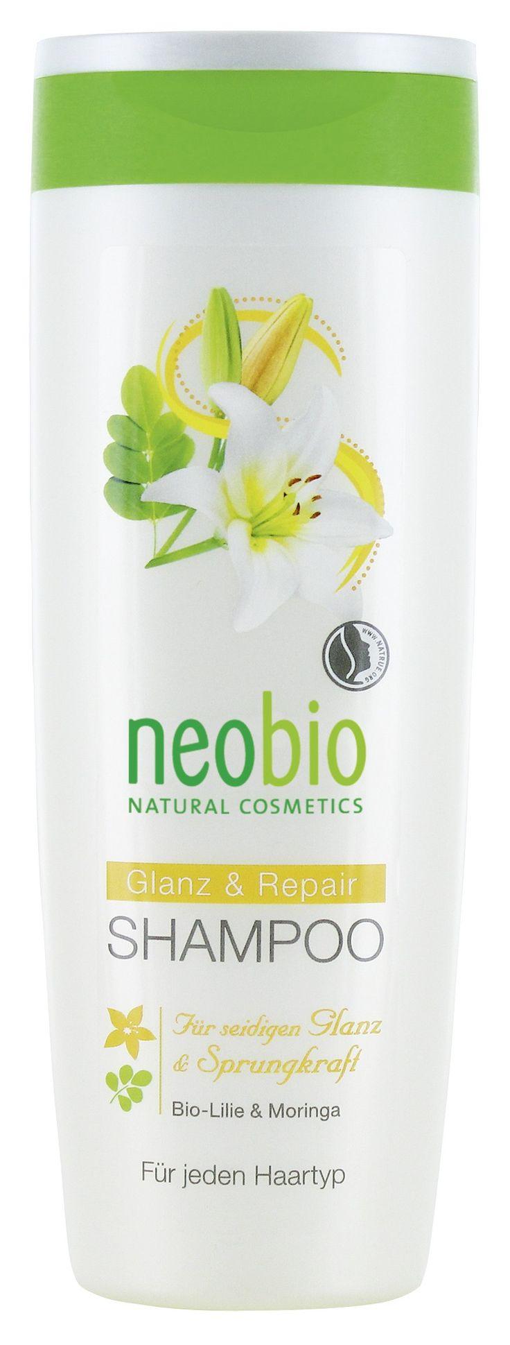 Neobio - shampoo lucentezza e riparazione Bio giglio e meringa per capelli setosi