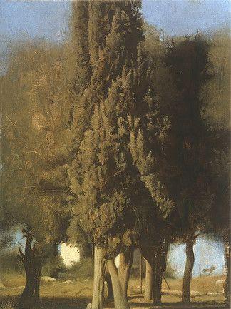 Israel Hershberg, Cypress No.1, 1998. Oil on canvas.