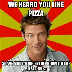Ty Pennington: Extreme Makeovers, Laughing, Extreme Home, Pizza Crusts, Comic Books, Funny Stuff, So True, Ty Pennington, Kids Rooms