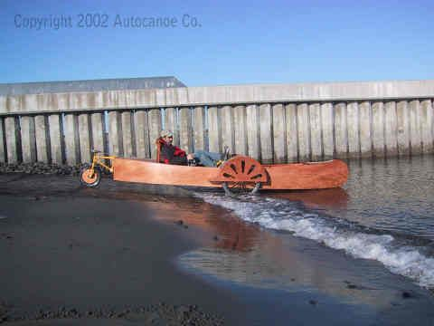 Autocanoe - Pedal Powered Amphibious Recumbent Tricycle and a Roadable Pedal Canoe. Port Townsend, Washington WA Plans $40Backyards Outdoor, Plans, Outdoor Fun, Pedal Canoes, Port Angels, Pedal Power, Fly Sliding, Amphibious Recumbent, Unique Transportation