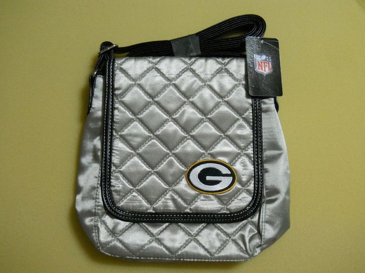 Women's NFL Green Bay Packers Quilted Purse/Bag Silver With Team Logo #ProFanIty #GreenBayPackers