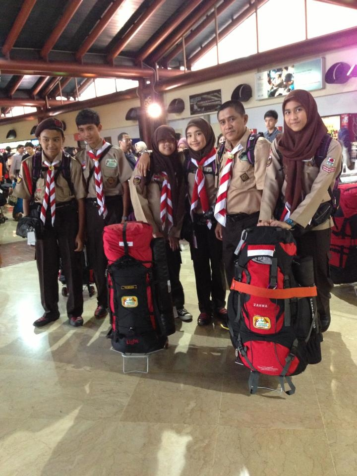Departure time for Indonesia Contingent