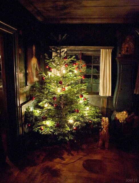 597 best images about christmas trees on pinterest for Country cabin christmas
