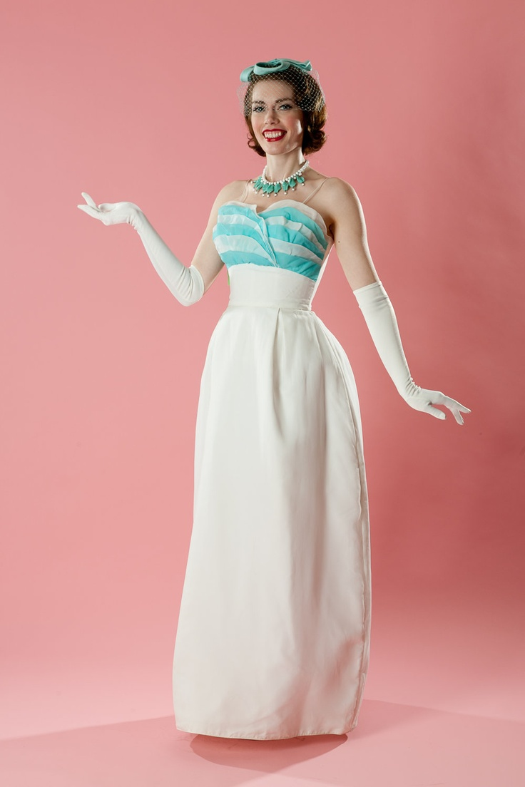 Vistoso Vestido De Boda De La Vendimia Nyc Foto - Colección de ...