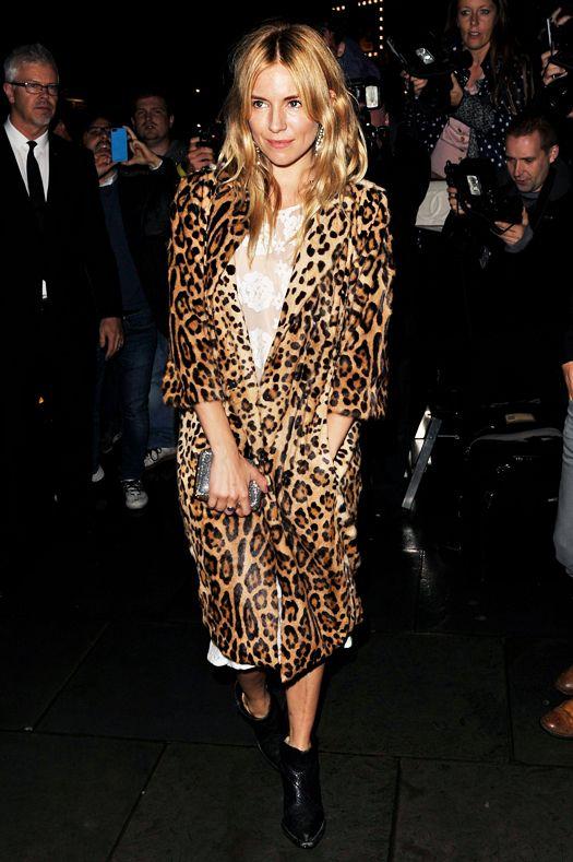 Леопардовое пальто. Сиенна Миллер. Animal prints.