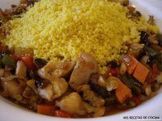 Receta de Cous cous con pollo y verduras
