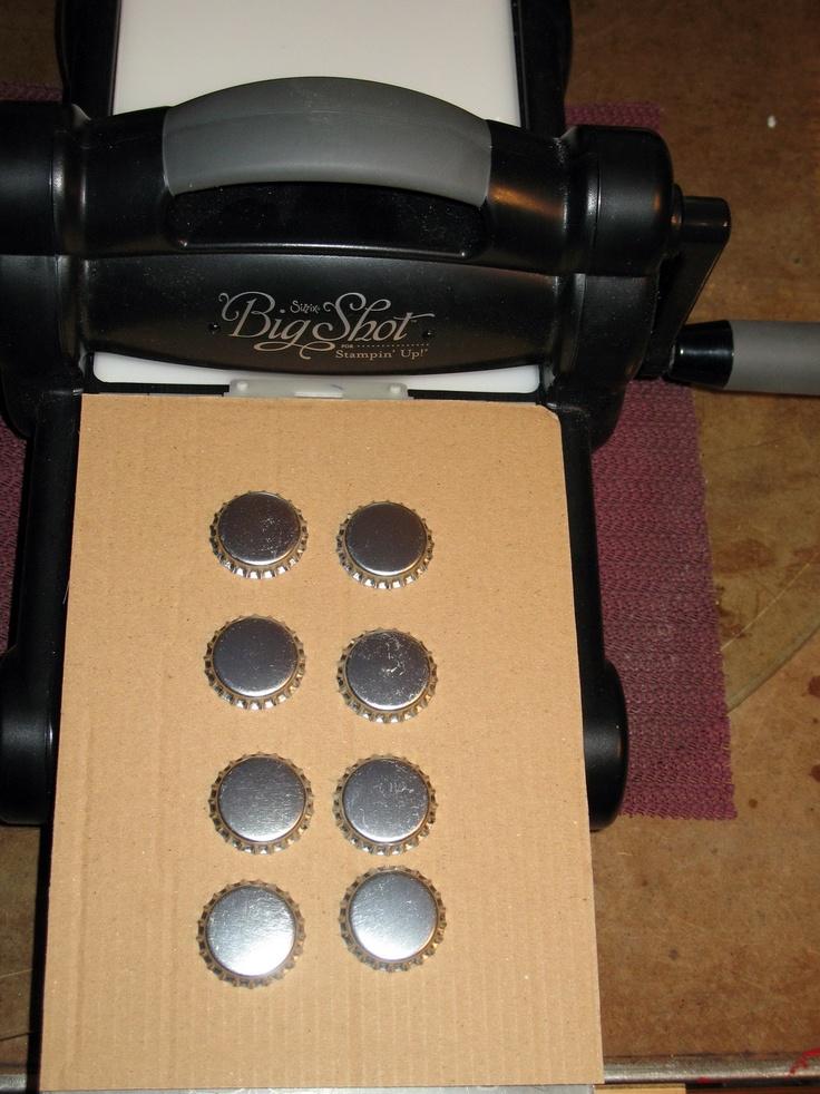 How to smash Bottle Caps | Denise Foor Studio PA  www.denisefoor.blogspot.com
