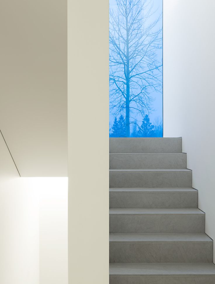 Beautiful staircase by John Pawson inside the Palmgren House. Photo by Gilbert McCallagher.