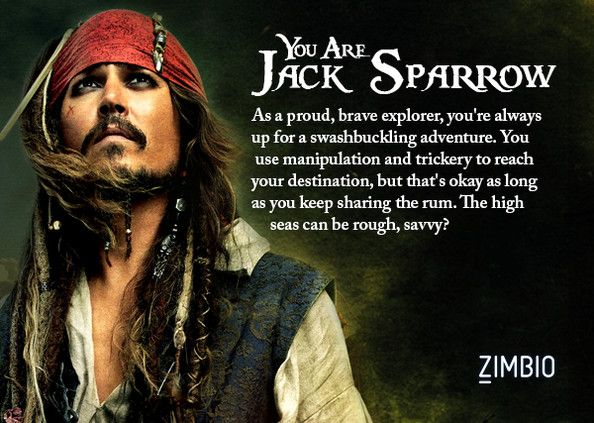 """My result for Zimbio's """"What Johnny Depp Character Are You?"""" Quiz (Score!!! :D)"""