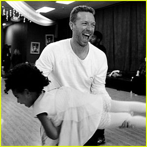 Beyonce Shares Adorable Photos of Blue Ivy & Chris Martin! | Chris Martin shares a super cute moment with Blue Ivy Carter in this new photo shared to her mom Beyonce's website.