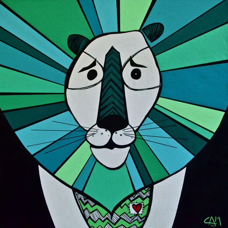 LionHeart, $440.00 #painting