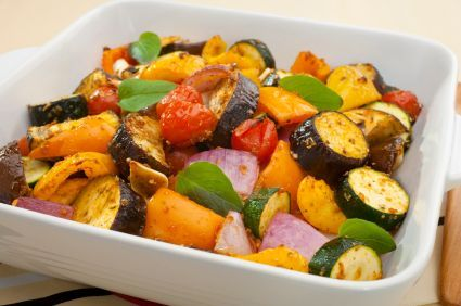 Grilled Vegetables with Pineapple: A delicious 135-calorie side dish!