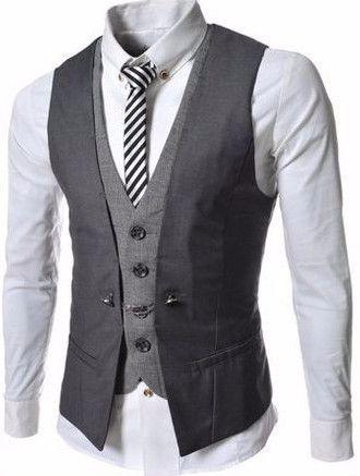 Slim Lattice Leisure Vest