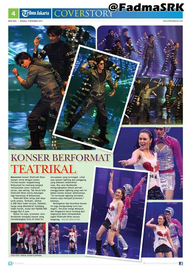 [E-PAPER7] Temptation reloaded Bollywood show in Jakarta, Indonesia! @iamsrk @realpreityzinta @bipsluvurself, Rani Mukherjee