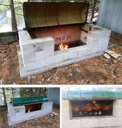 Build Your Own Large Rotisserie Pit BBQ