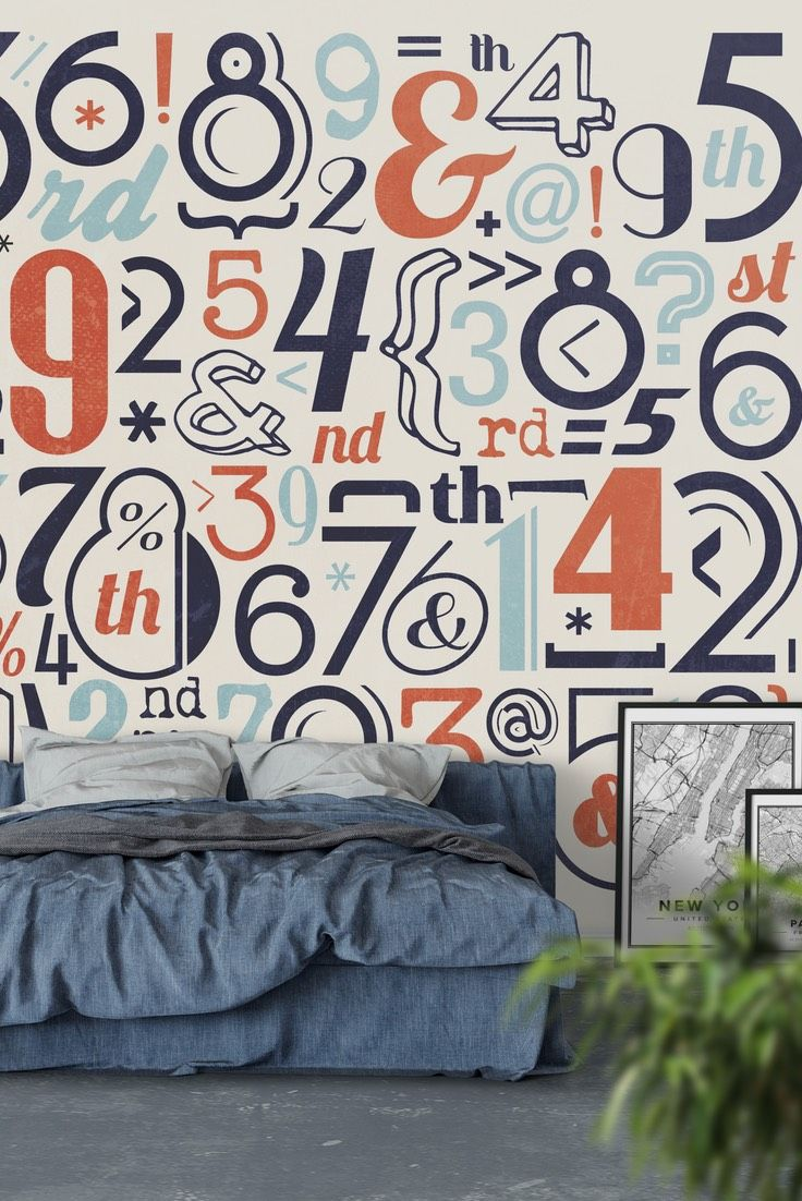 Retro typography Wall Mural - Wallpaper