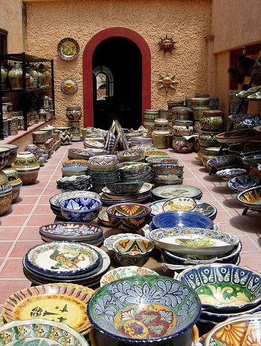 talavera ceramic factory in Dolores Hidalgo, Mexico.