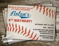 Free Printable Baseball Birthday Invitations