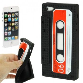 Tape Silicon Case for iPhone 5 & 5s - Black